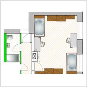 Grundriss Doppel Apartment
