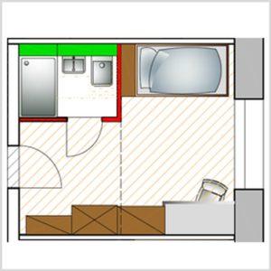 Grundriss Einzel Apartment
